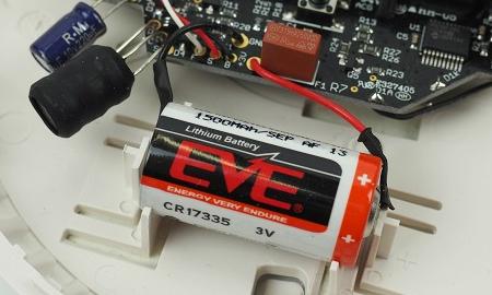 Fest verbaute Batterie im ST-620 Rauchmelder