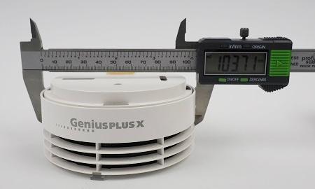 Durchmesser des Genius Plus X an der breitesten Stelle