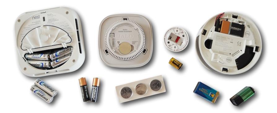 Batterien für Rauchmelder