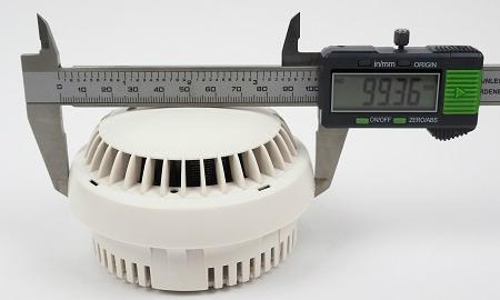 Durchmesser des Detectomat HDv Sensys an der breitesten Stelle.