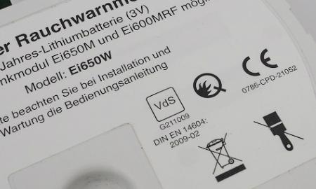 VdS und Q-Kennzeichnung des Ei650W Funkrauchmelders