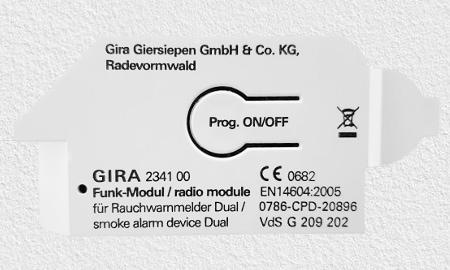 Funkmodul für Geräte der Gira Dual Serie