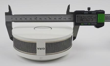 Durchmesser der Gira Dual Q an der breitesten Stelle