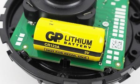 Langzeitbatterie im Detectomat HDv Sensys Rauchmelder