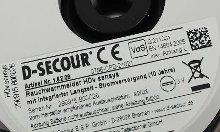 HDv Sensys - VdS und Q Kennzeichnung