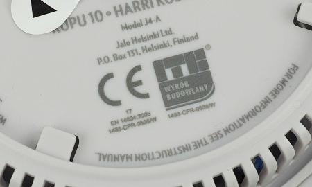 Hinweis auf Produktnorm EN 14604 des Jalo Kupu Rauchmelders