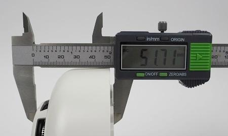 Höhe des Lupusec SD-8 Smart Home Rauchmelders