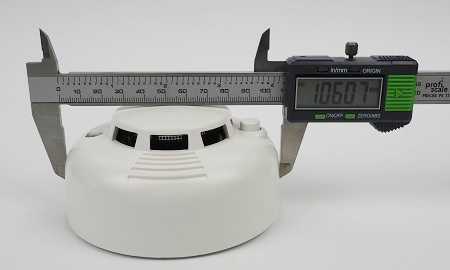 Durchmesser des Lupusec SD-8 an der breitesten Stelle