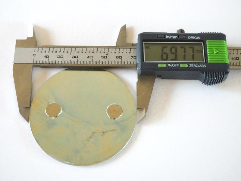 Druchmesser der Magnetolink Elemente: 69,77mm
