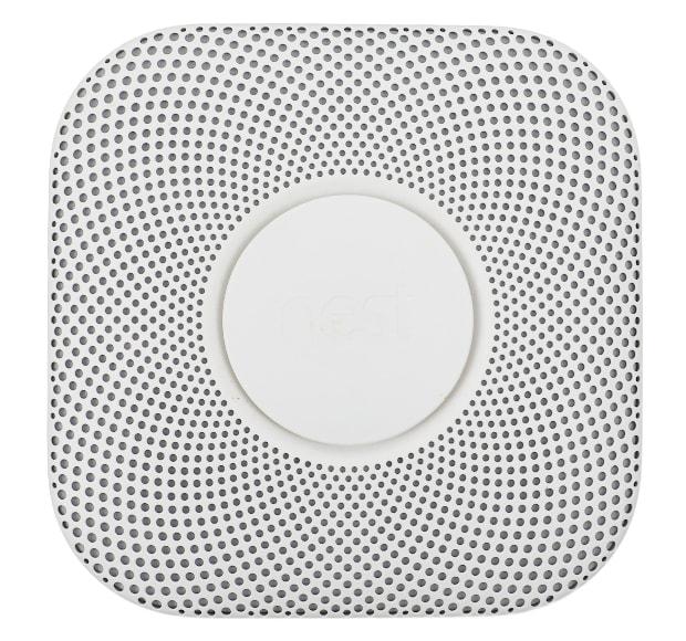 Oberfläche des Nest Protect Rauchmelders mit Leuchtring