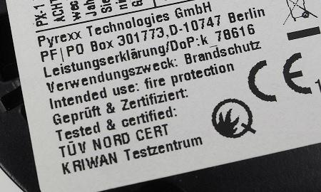 Pyrexx PX-1 mit Kriwan und Q Kennzeichnung und
