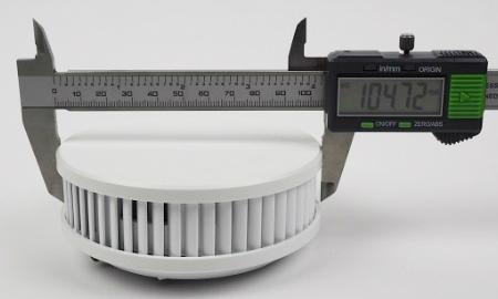 Durchmesser des Pyrexx PX-1C Funkrauchmelders