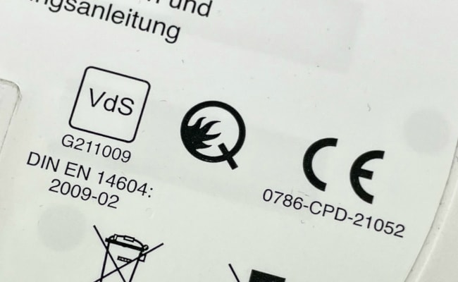 Q Rauchmelder mit CE Kennzeichnung