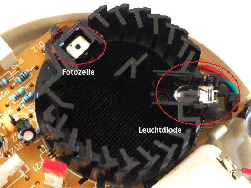 Fotozelle und Leuchtdiode