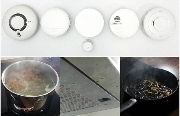 Rauchmelder in der Küche - Experiment