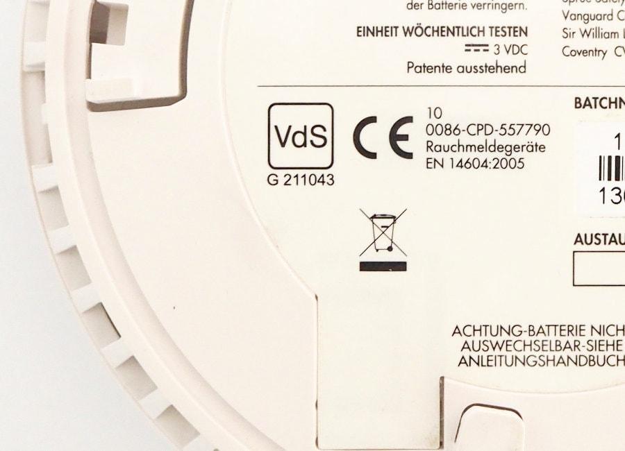 VdS Siegel, EN 14604 und CE Kennzeichnung