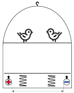 Visualisierung Vogel Rauchmelder