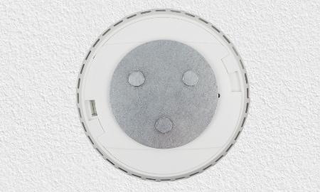 Montage des Abus Smart Home Rauchmelders mit Magnethalter