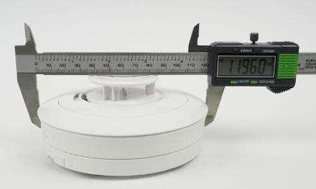 Durchmesser des Ei603TYC Hitzewarnmelders