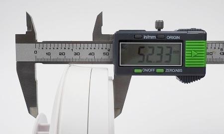 Höhe des Ei603TYC inkl. Montagesockel