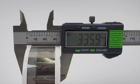 Höhe des Abus GRWM30600 Mini-Rauchmelders