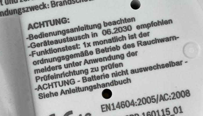 Verpflichtende Kennzeichnungen EN14604