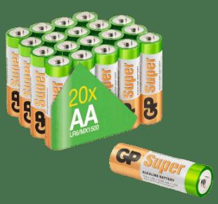 GP Super 1,5V AA Alkaline Batterien