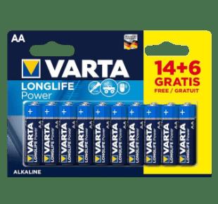 Varta 1,5V AA Alkaline Batterien