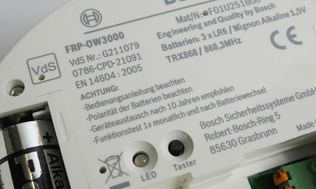 Bosch Ferion 3000 OW mit VdS Anerkennung
