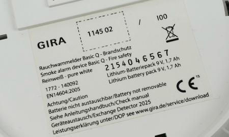 Gira Basic Q mit Q-Label und EN 14604 Zulassung