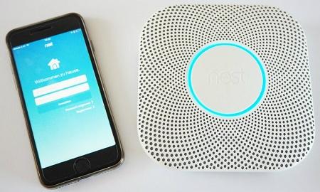 Nest App auf Smartphone