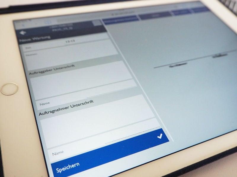 Wartungsmanager in der Web-App