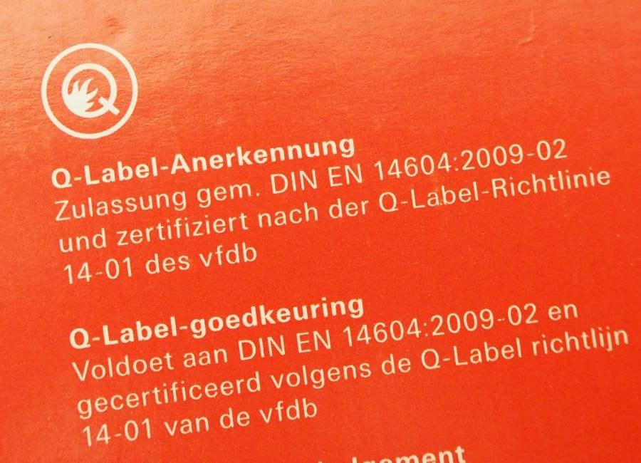 Q-Label Anerkennung nach vfdb 14-01 Richtlinie
