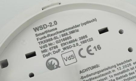 WSD 2.0 Rauchmelder mit VdS Anerkennung und Q-Label
